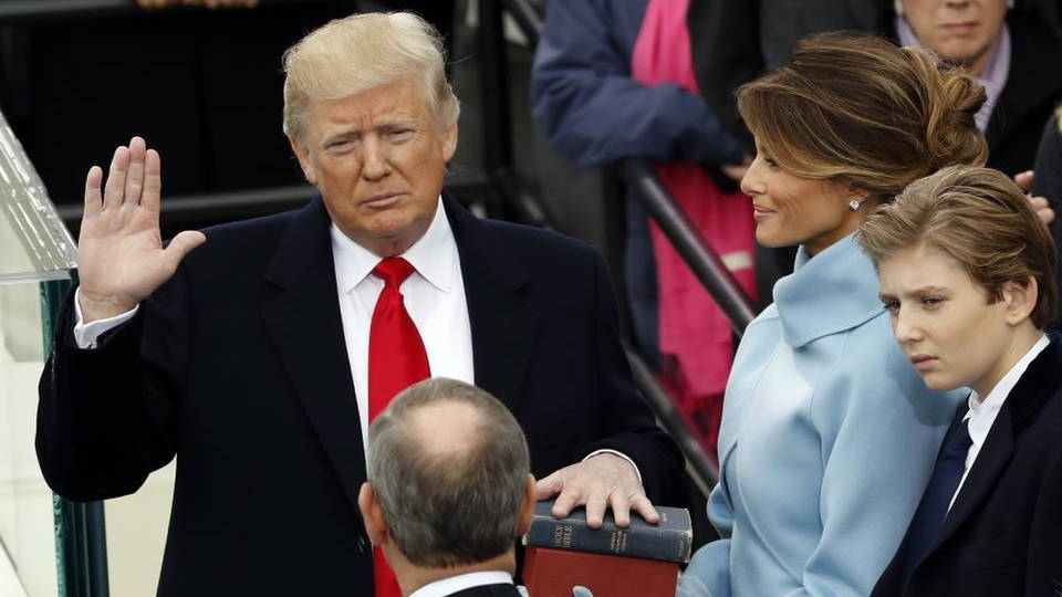 H2 trump sworn in