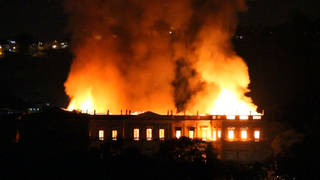 H8 brazil fire at national museum destroys art history0