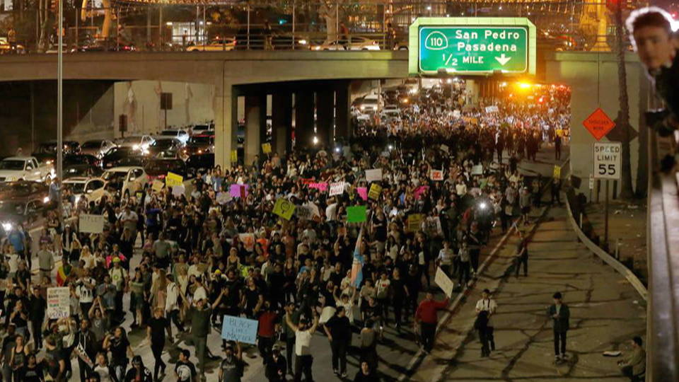 not my president tens of thousands nationwide protest trump s