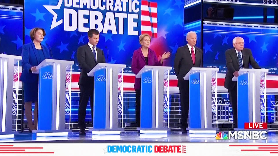 Democrat Debate Spends First 12 Minutes on Impeachment