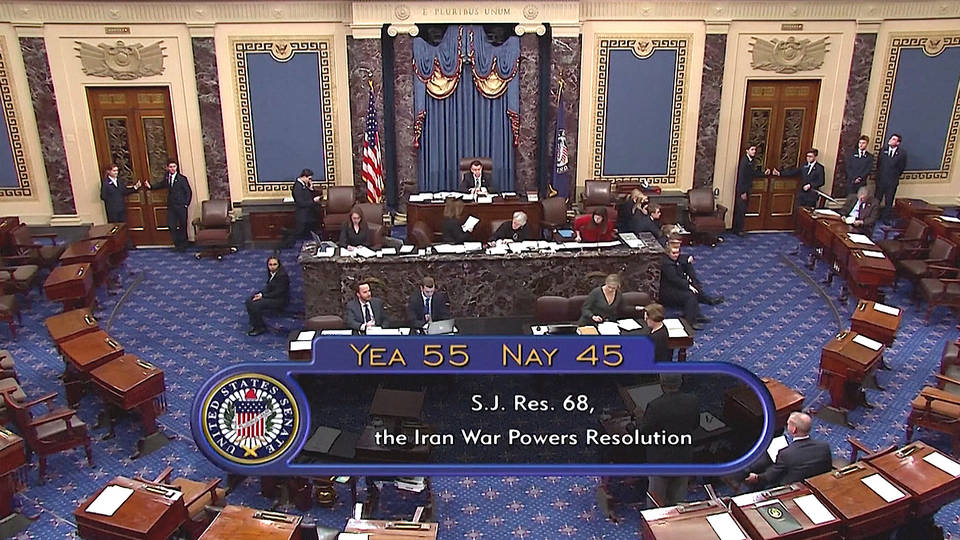 H1 senates passes resolution limiting trump war powers authority