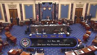 H1 senates passes resolution limiting trump war powers authority