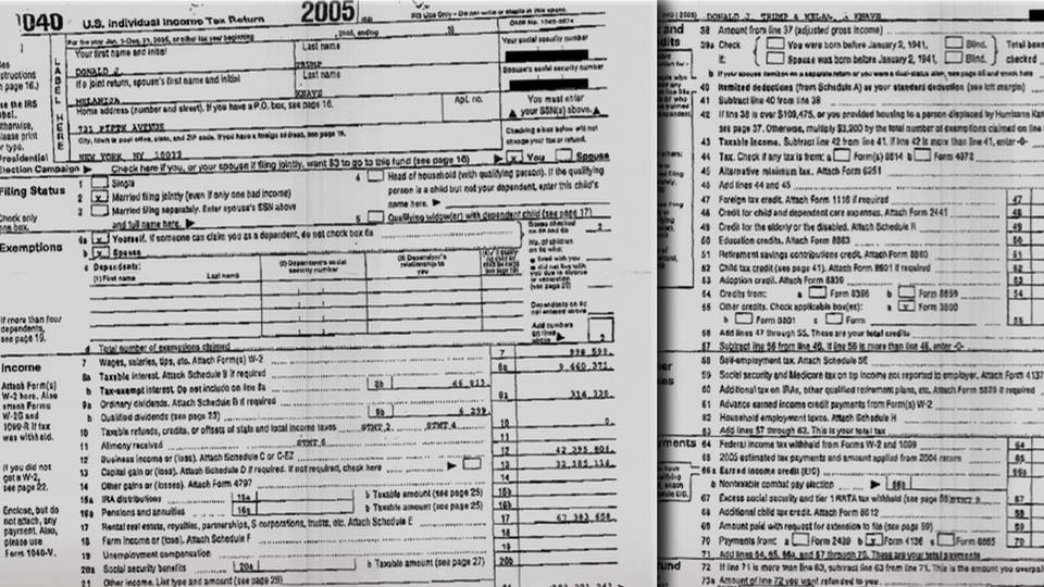 2 Pages Of Trump'S 2005 Tax Return Leaked | Democracy Now!