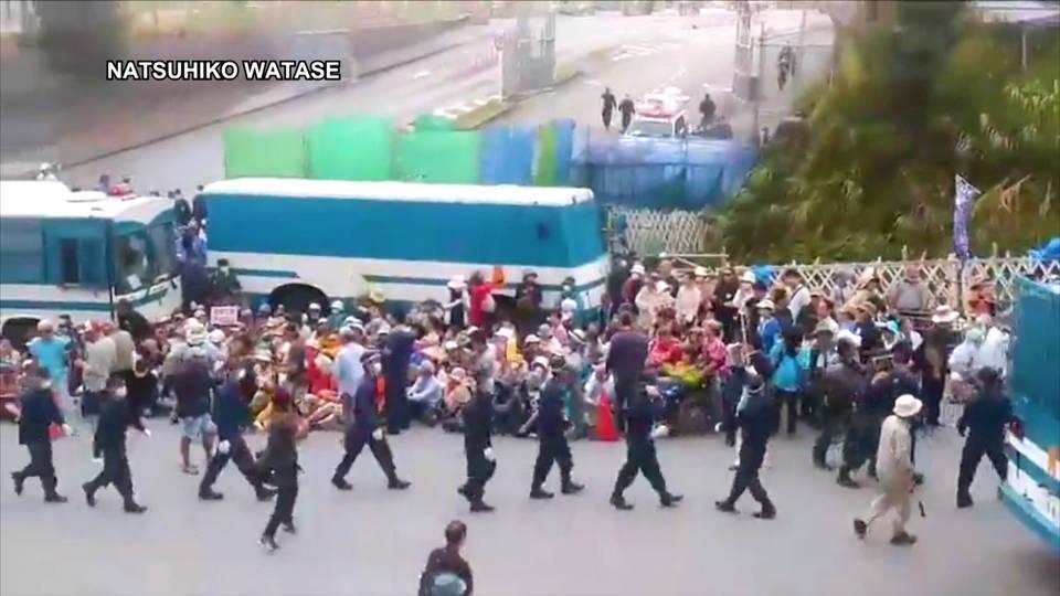 H9 okinawa protest us military presence