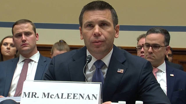 H3 house homeland security chief kevin mcaleenan migrant deaths family separation cummings
