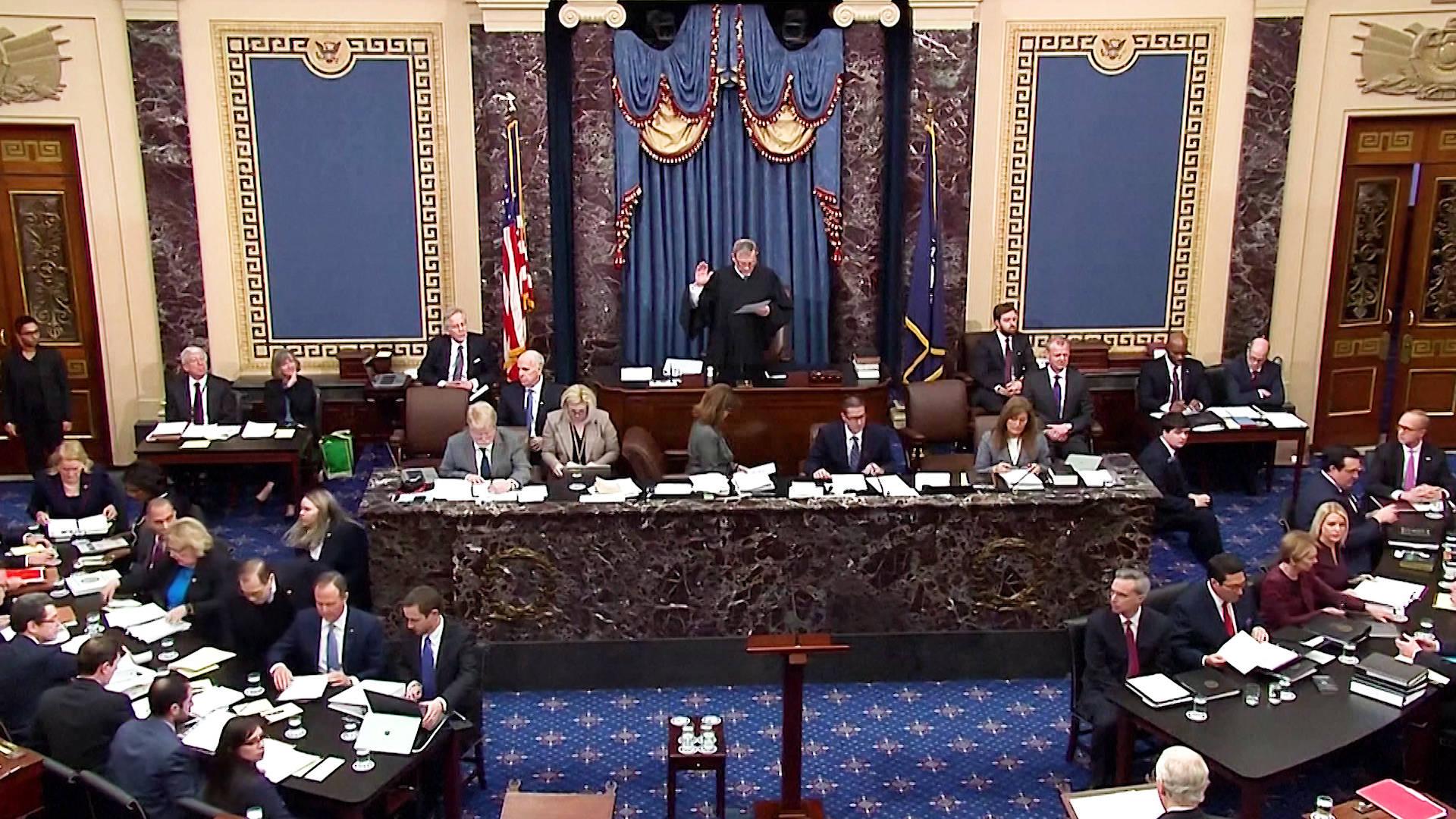 H1 us senate approves rules trump impeachment trial jerry nadler adam schiff ukraine biden