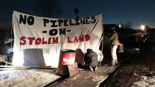 H10 rail blockade continue protests grow against coastal gaslink pipeline