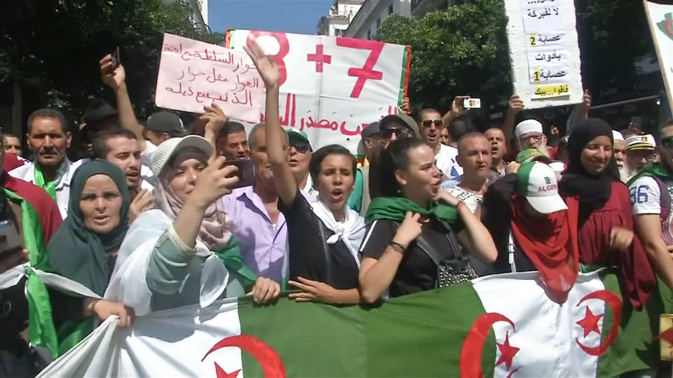 H9 algeria protests corruption elections students army