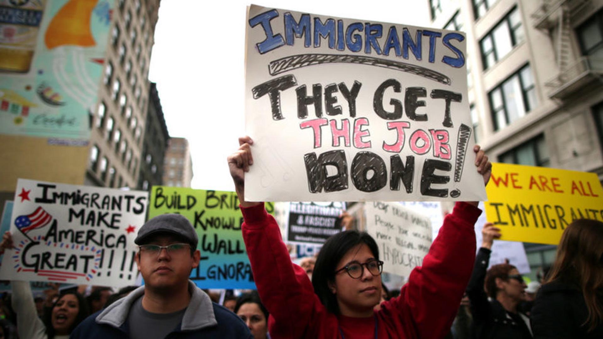 H03 immigrant protest
