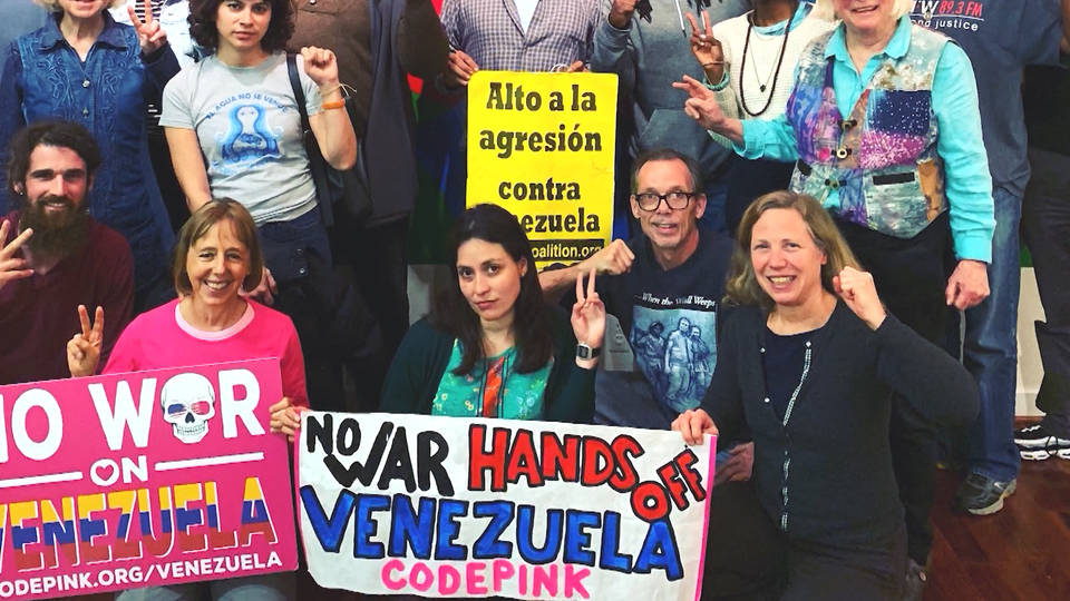 H9 venezuela embassy dc water power cut activists occupation