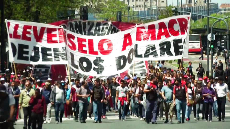 H5 argentina thousands march against imf cuts social programs buenos aires