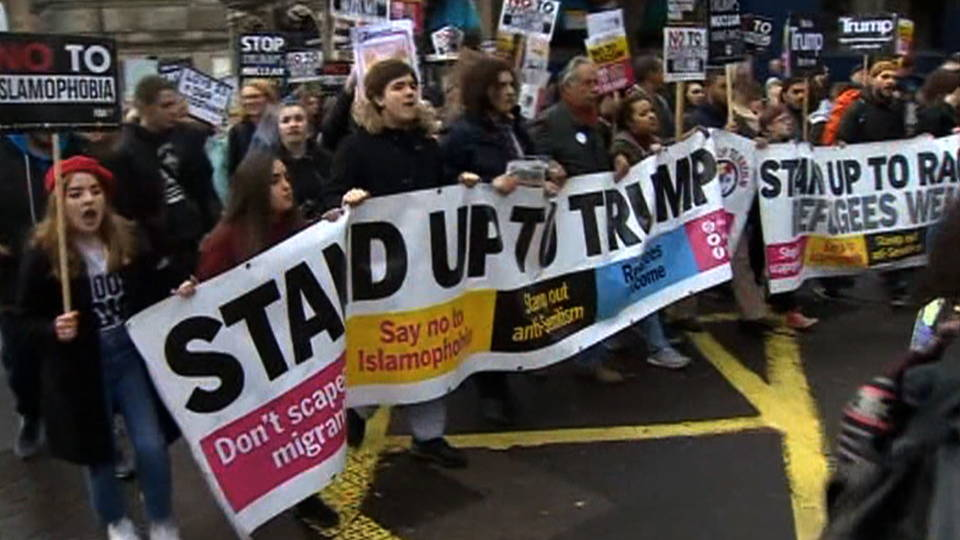 H13 uk trump protest