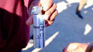 H5 teargas migrants cannister