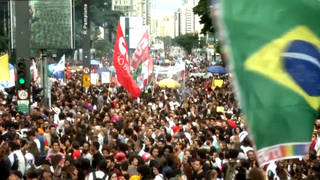 H5 brazil teachers students march rally protest government education cuts