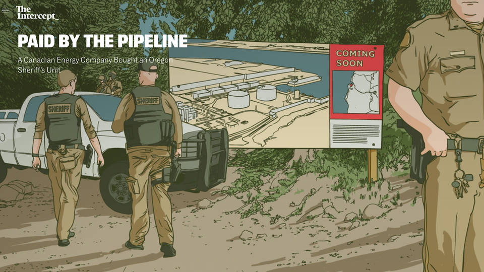 H8 the intercept canada fossil fuel company pembina bought oregon sheriff department unit