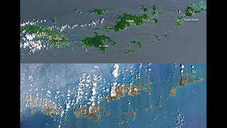 Hurricane irma virgin islands devastation from space