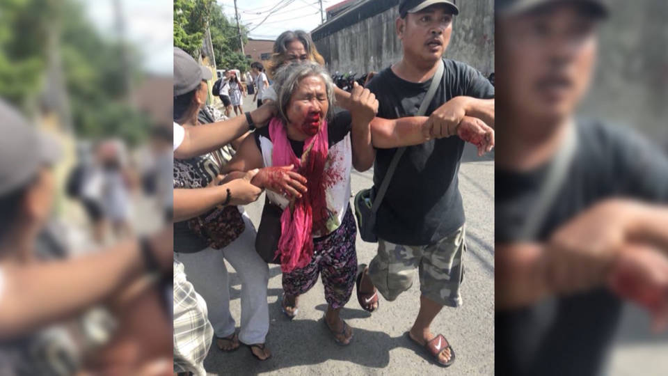 H13 philippines striking workers attacked by police