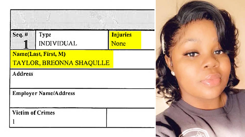 Louisville, KY Police Filed Nearly Blank Report After Killing Breonna Taylor