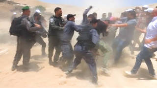 H8 israeli troops attack bedouin villagers defeding homes