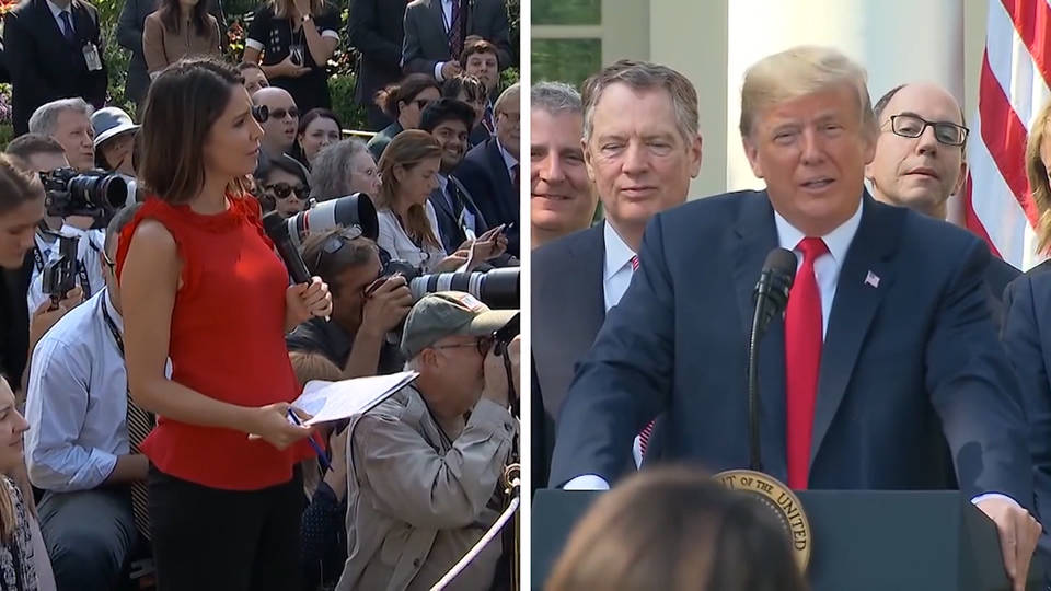 Trump to female reporter: You're not thinking. You never do