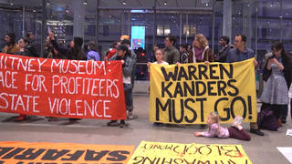 H15 whitney museum protest nyc warren kanders tear gas