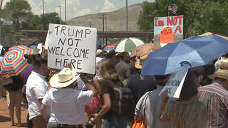 H5 el paso protesters trump language immigrants invasion