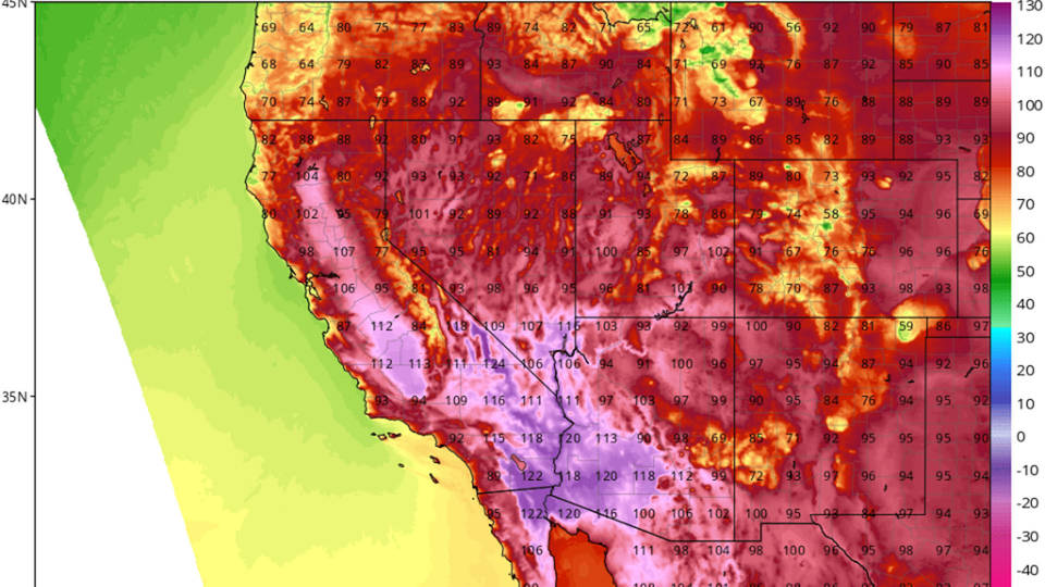 H13 heatwave us southwest