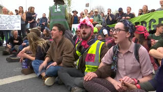 H12 extinction rebellion sit in london arrests