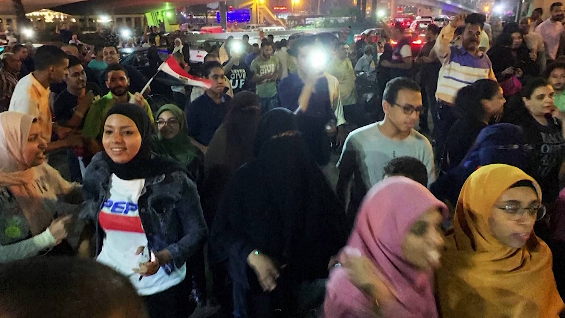 Protesters Defy Security Crackdown in Egypt, Demanding Ouster of President Sisi