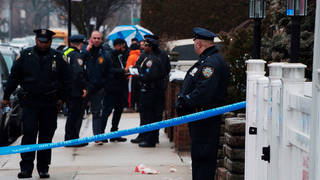 H11 ice agent shoots man face brooklyn new york