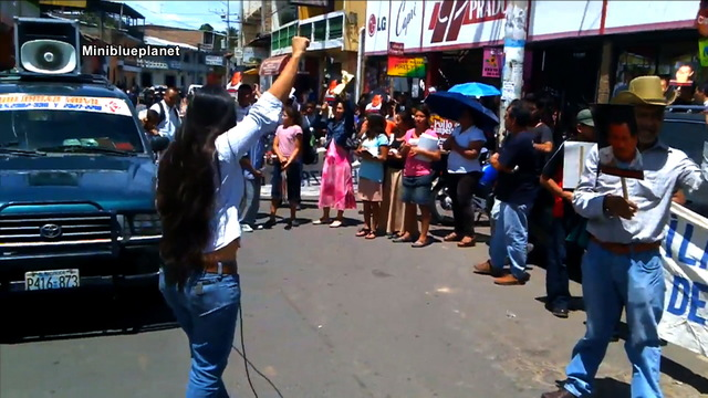 H16 anti mining protest el salvador