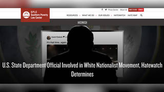 H9 southern poverty law center splc state department employee white nationalist hatewatch project matthew q gebert