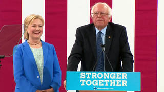 H7 hillary clinton backpedals on her criticism of bernie sanders