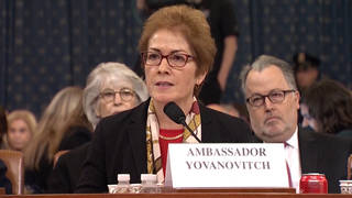 H4 former us ukraine ambassador marie yovanovitch testify impeachment hearing trump giuliani zelensky