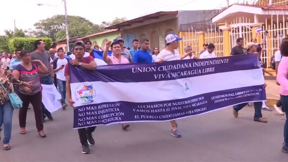 H9 nicaragua pension protests