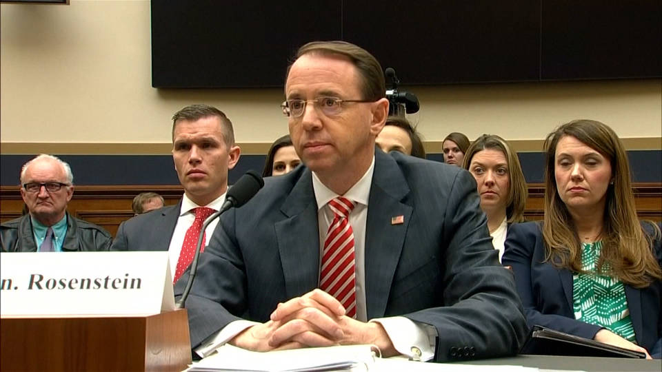 Ally congressmen introduce impeachment resolution against Deputy AG Rosenstein