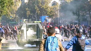 H10 chile massive student protest privatization