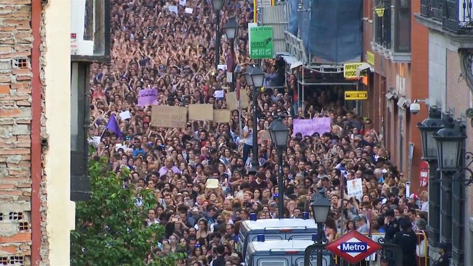 H7 spain anti rape protests