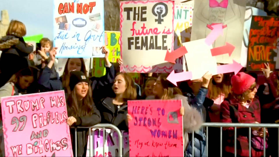 Women's Marches draw large crowds on second day