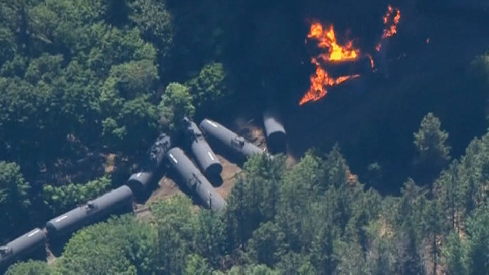 H12 exploding train