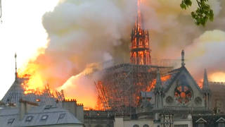 H1 notre dame fire paris france