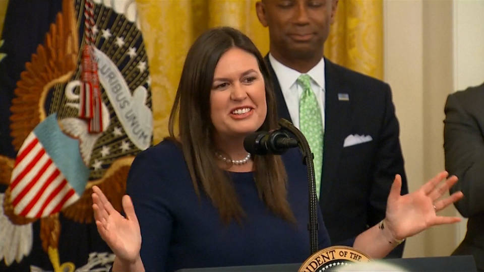 Trump announces exit of 'warrior' spokeswoman Sarah Sanders