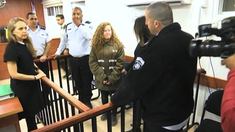 Palestinian protest icon Ahed Tamimi out of Israeli prison