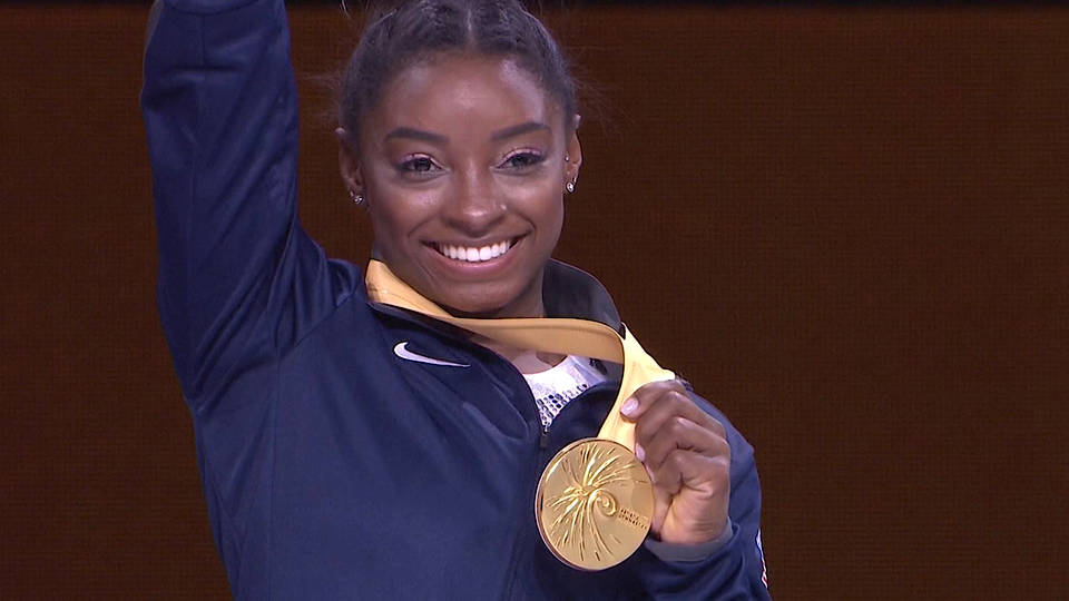 H11 simone biles fifth all around world championship stuttgart germany usa gymnast