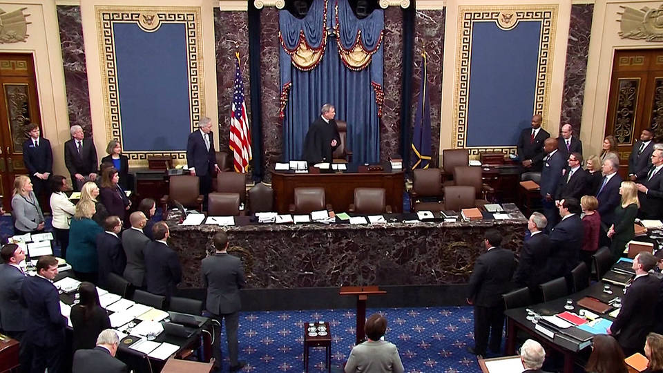 H1 senate poised acquit president trump impeachment trial