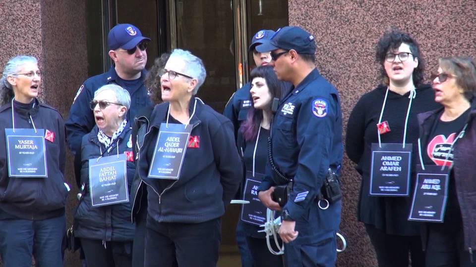 H10 jewish activists against israeli violence arrested nyc schumer