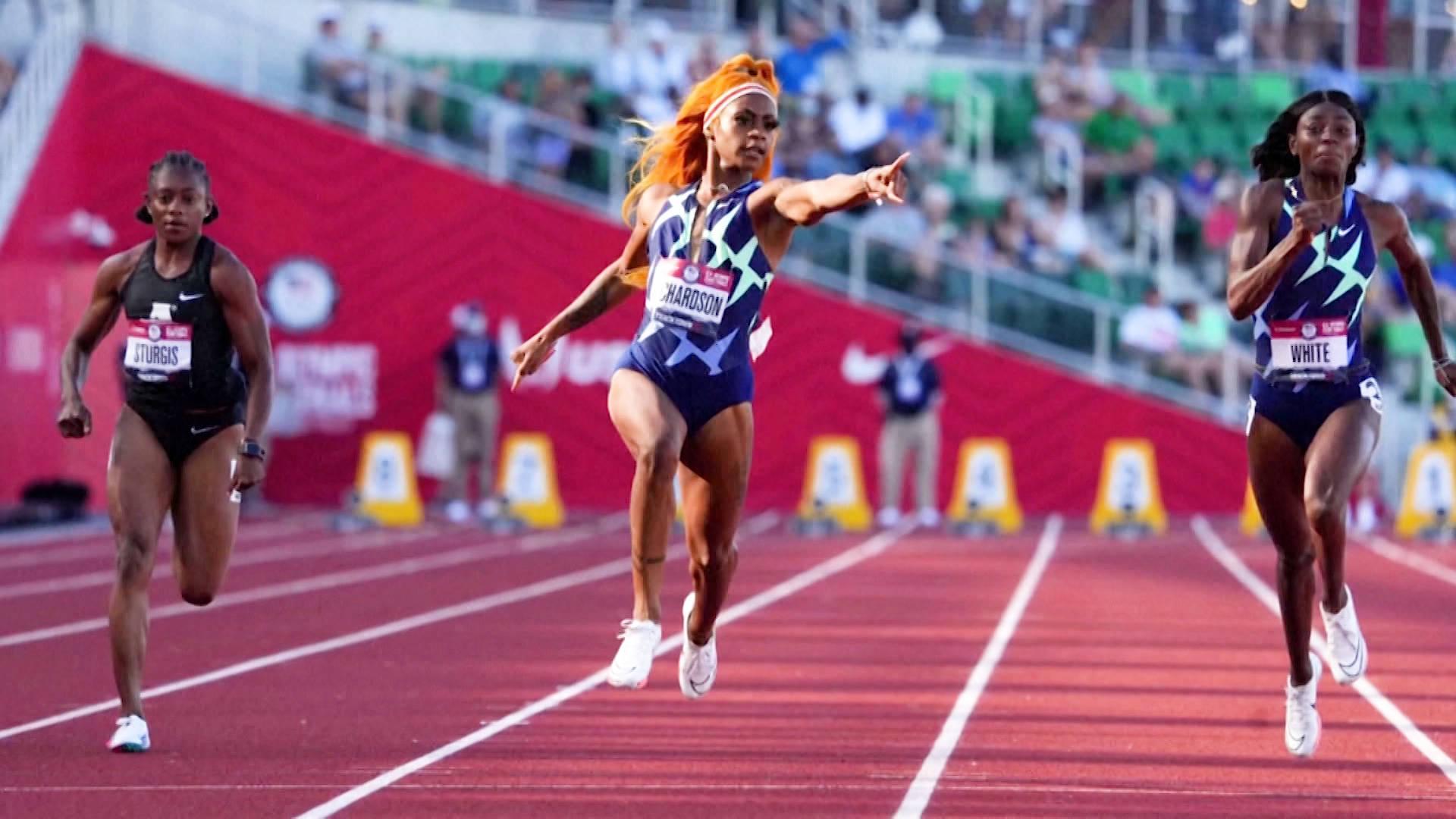 ShaCarri Richardson earns 100-meter berth, reveals mother