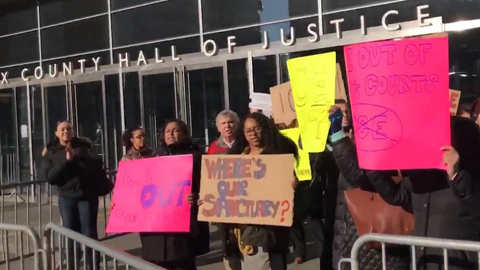 h06 nyc public defenders strike against ice in courts