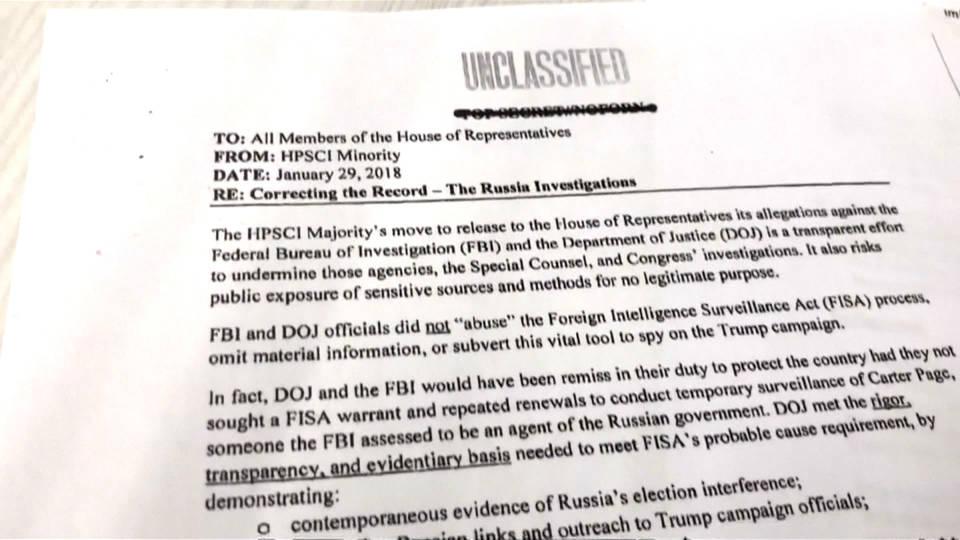 H6 democrat fbi russia memo