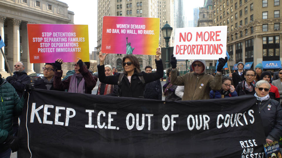 H6 ice court protest